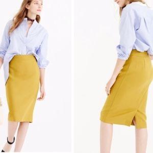 J.CREW No.2 pencil skirt in mustard yellow 0885